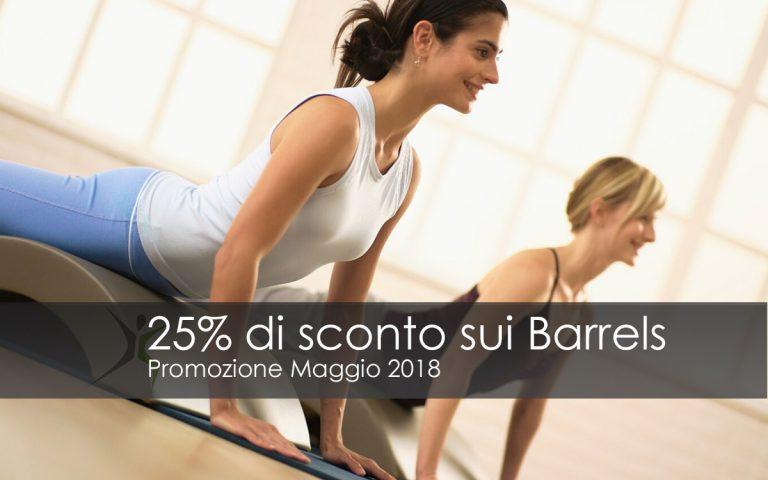 Offerta Pilates Barrels maggio 2018